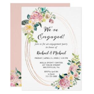 Pastel Engagement Party Invitations Zazzle