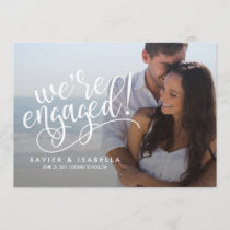 We're Engaged! | Photo Engagement Announcement