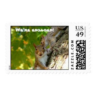 We're engaged postage stamp