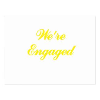 Were Engaged Postcard