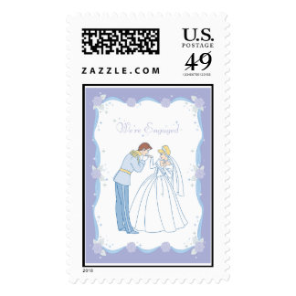 We're Engaged Prince and Princess Disney Stamps