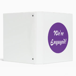 We're Engaged! Purple and White Binder