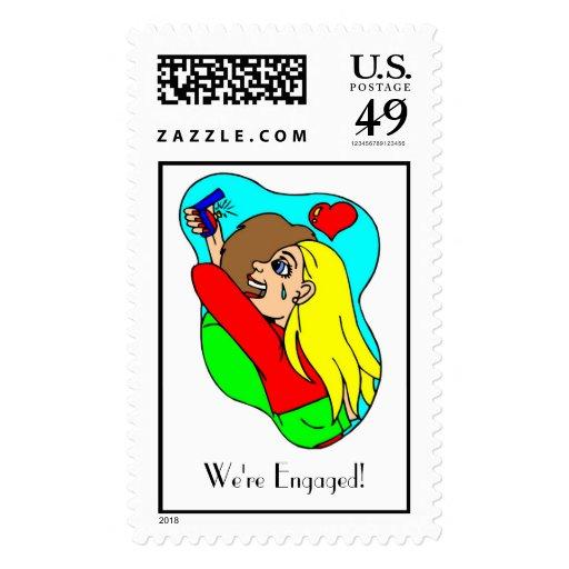 We're Engaged! Stamp