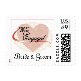 We're Engaged Stamps