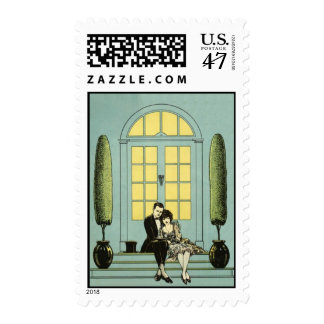 We're Engaged Vintage Wedding Postage