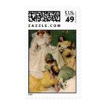We're Engaged Vintage Wedding Stamps