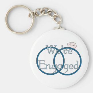 We're Engaged Wedding Rings Tees, Gifts Basic Round Button Keychain