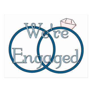 We're Engaged Wedding Rings Tees, Gifts Postcard