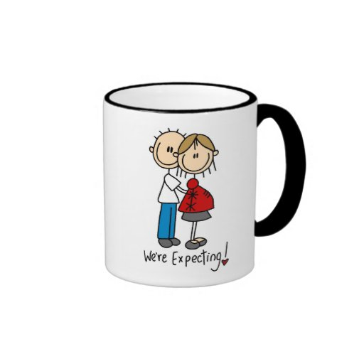 We're Expecting Baby Tshirts and gifts Ringer Coffee Mug