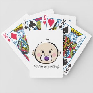 Were Expecting Bicycle Playing Cards