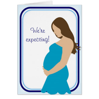 We're expecting! Pregnant Belly Greeting Cards