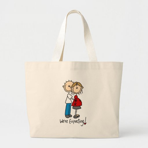 We're Expecting! Pregnant Stick Figure Bag