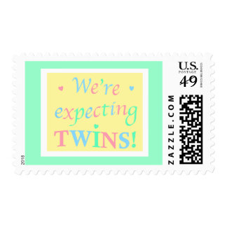 """""""We're expecting TWINS!"""" Postage"""
