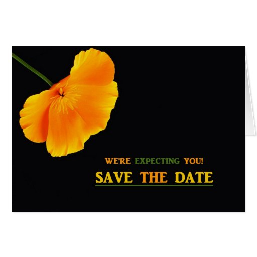 WE'RE EXPECTING YOU! SAVE THE DATE CARD