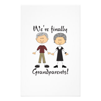 We're Finally Grandparents! Stationery