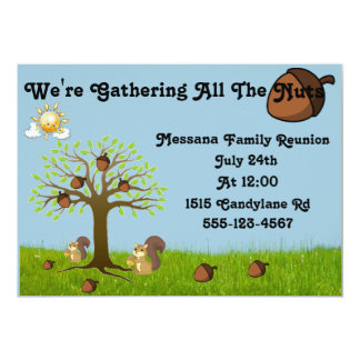 We're Gathering All The Nuts 5x7 Paper Invitation Card