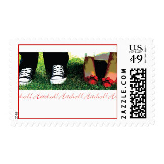 We're getting Hitched Stamped Postage Stamp