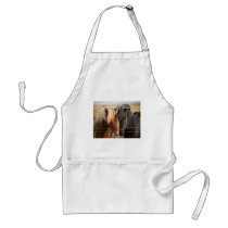 We're Getting Hitched (Two Horses) Adult Apron