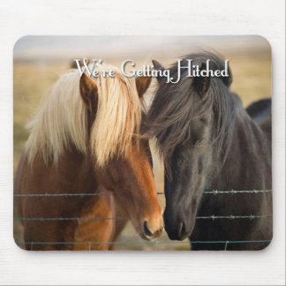 We're Getting Hitched (Two Horses) Mouse Pad
