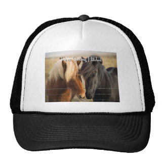 We're Getting Hitched (Two Horses) Trucker Hat