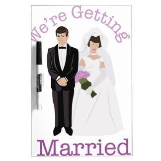 We're Getting Married! Dry-Erase Board