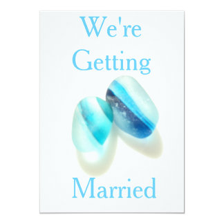 We're Getting Married 5x7 Paper Invitation Card