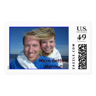 We're Getting Married! Postage Stamps