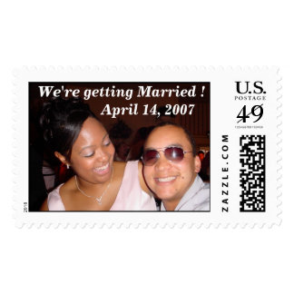 We're getting Married Postage Stamp