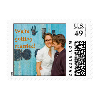 We're getting married! stamp