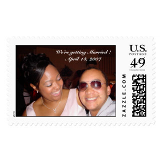 We're getting Married Stamp