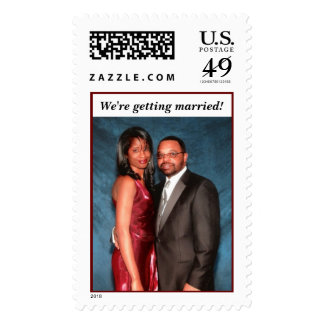 We're getting married!  Postage Stamp