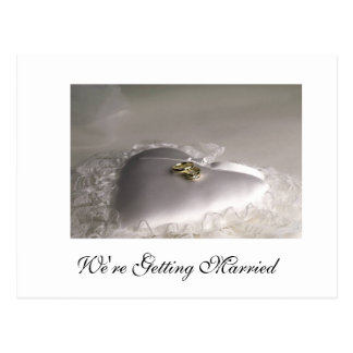 We're Getting Married Postcard