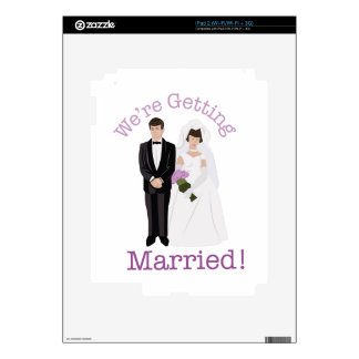 We're Getting Married! iPad 2 Decal
