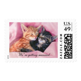 We're getting married. stamps