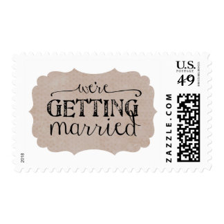 We're Getting Married Wedding Postage
