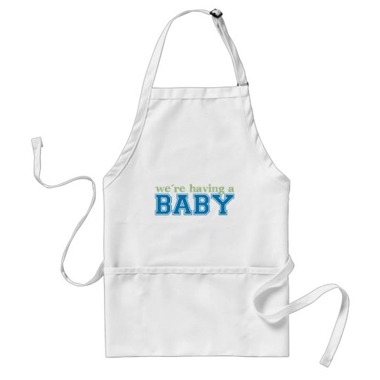 We're Having a Baby Adult Apron