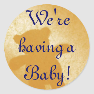 We're having a Baby! Announcements Sticker