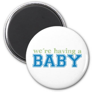 We're Having a Baby! Refrigerator Magnets