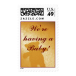 We're having a Baby!  Postage Stamps