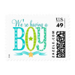 We're Having a BOY - New Baby - Postage Stamps