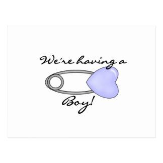 We're Having a Boy Postcard