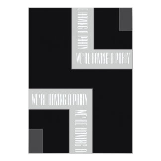 """We're Having A Party"" Black/Grey ColorCorner (MB) Card"