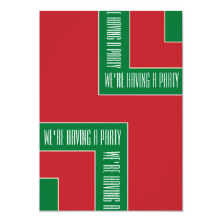 """We're Having A Party"" Red/Green Color Corner (MB) Card"