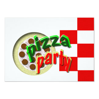 We're having a Pizza Party !!!! Card