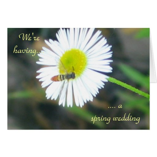 """""""We're having a spring wedding."""" Stationery Note Card"""