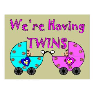 We're Having TWiINS Postcard
