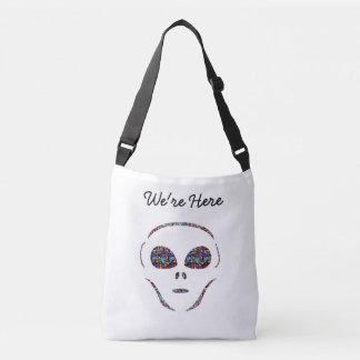We're Here Alien Tote Bag