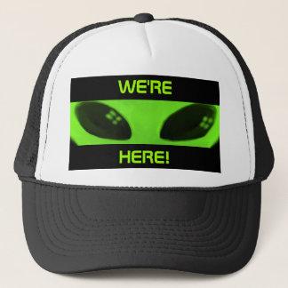 WE'RE HERE! cap