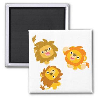 """We're Here!!"" Cute Cartoon Lions Magnet"
