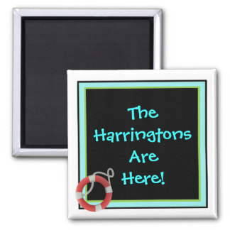 We're Here Personalized Stateroom Door Marker Magnet
